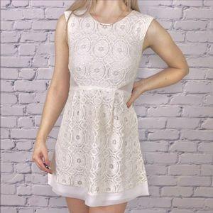 Aritzia Kimchi Blue cream mini dress c1